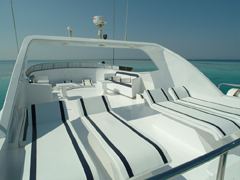 Sundeck on My/Y Sweet Dream Liveaboard Motor Yacht in Marsa Alam Egypt