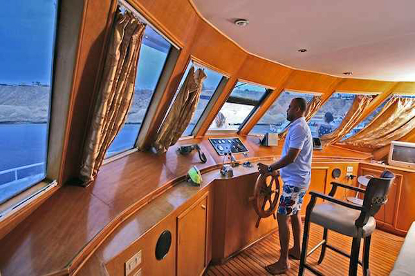 The Bridge on M/Y Carlton Diving Liveaboard in Sharm el Sheikh Egypt
