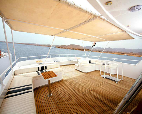 Middle Deck on M/Y Carlton Diving Yacht in Sharm el Sheikh Egypt