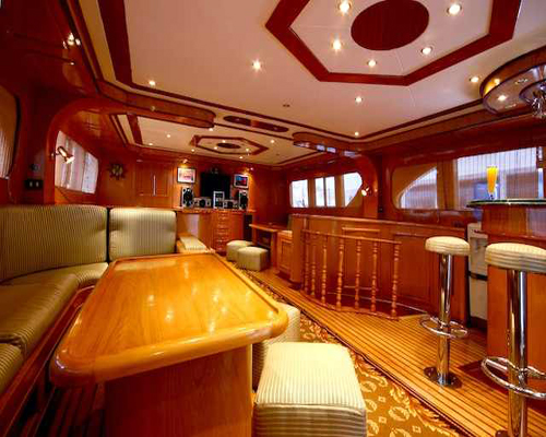Interior Salon of M/Y Carlton Liveaboard Diving Yacht in Sharm el Sheikh Egypt