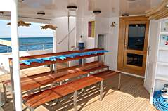 Dive Deck on M/Y Discovery Liveaboard Diving Motor Yacht in Marsa Alam Egypt