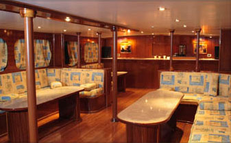 Interior of M/Y Juliet Liveaboad Diving Motor Yacht in Sharm el Sheikh Egypt