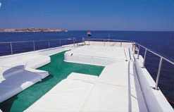 Upper Deck on M/Y Juliet Liveaboad Diving Motor Yacht in Sharm el Sheikh Egypt
