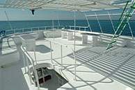 Top Deck on Spirit of Folk Liveaboard Diving Motor Yacht in Marsa Alam Egypt